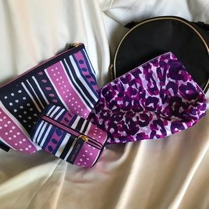 Set of 4 new cosmetic bags